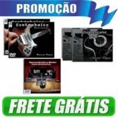 5 dvds contrabaixo/violão/guitarra